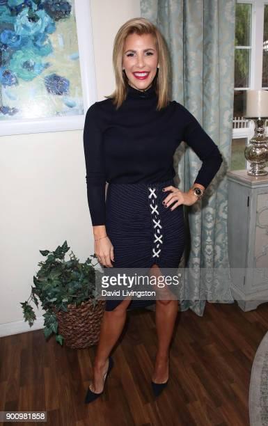 TV personality Tracy Tutor Maltas visits Hallmark's 'Home Family' at Universal Studios Hollywood on January 3 2018 in Universal City California