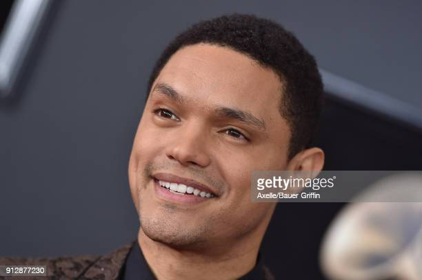 TV personality Trevor Noah attends the 60th Annual GRAMMY Awards at Madison Square Garden on January 28 2018 in New York City