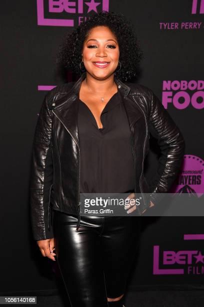 "Personality Trina Braxton attends ""Nobody's Fool"" Atlanta Screening at Regal Atlantic Station on November 1, 2018 in Atlanta, Georgia."