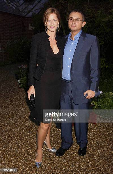 TV personality Trinny Woodall and husband Johnny Elichaoff attend the Cartier Gala Evening at the Chelsea Physic Garden May 20 2003 in London England