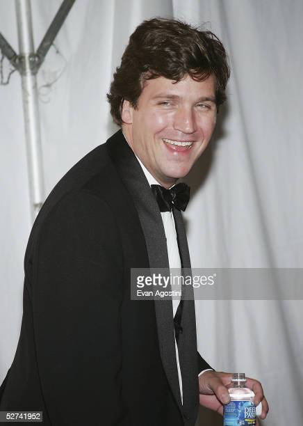TV personality Tucker Carlson attends the Bloomberg News Party of the Year following The White House Correspondents' Dinner April 30 2005 in...