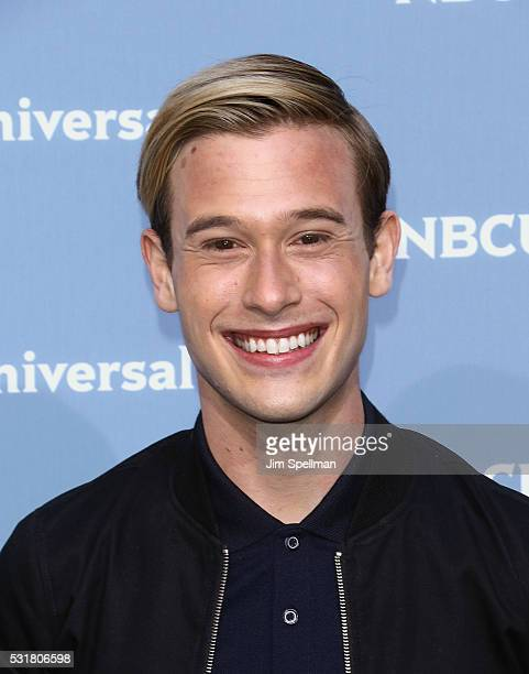 TV personality Tyler Henry attends the 2016 NBCUNIVERSAL Upfront at Radio City Music Hall on May 16 2016 in New York City