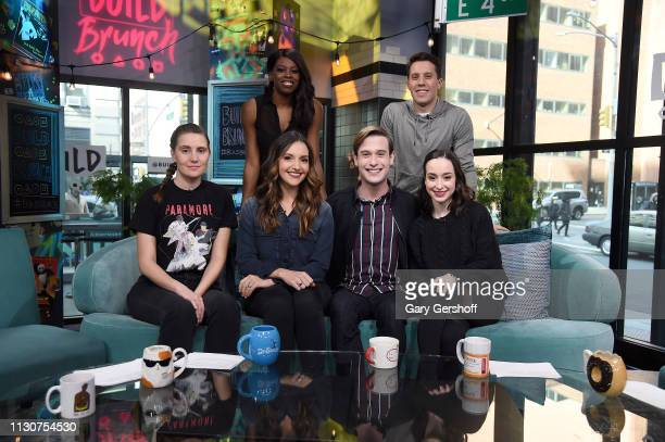 TV personality Tyler Henry visits the Build Brunch with hosts Shannon Coffey Brit Morin Ali Kolbert and Brittany JonesCooper and Lukas Thimm to...