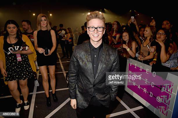 TV personality Tyler Oakley attends the 2015 MTV Video Music Awards at Microsoft Theater on August 30 2015 in Los Angeles California