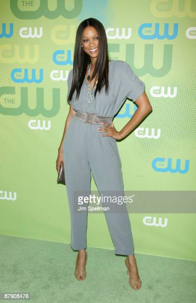 TV personality Tyra Banks attends the 2009 The CW Network UpFront at Madison Square Garden on May 21 2009 in New York City