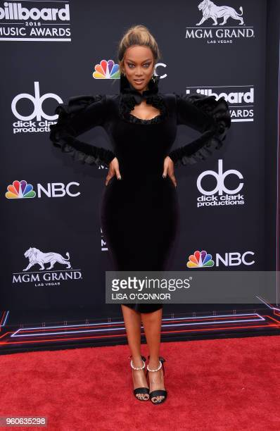 TV personality Tyra Banks attends the 2018 Billboard Music Awards 2018 at the MGM Grand Resort International on May 20 2018 in Las Vegas Nevada