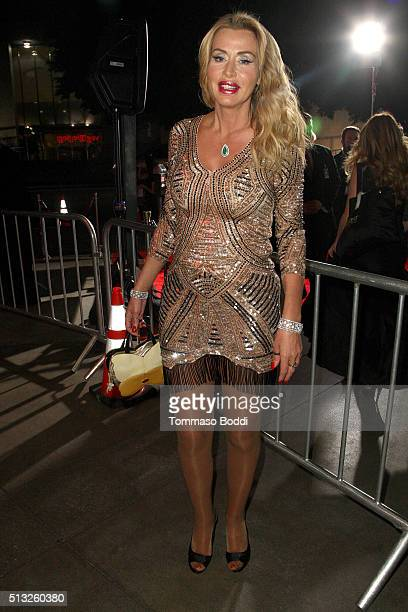 TV personality Valeria Marini attends the premiere of Focus Features' London Has Fallen held at ArcLight Cinemas Cinerama Dome on March 1 2016 in...