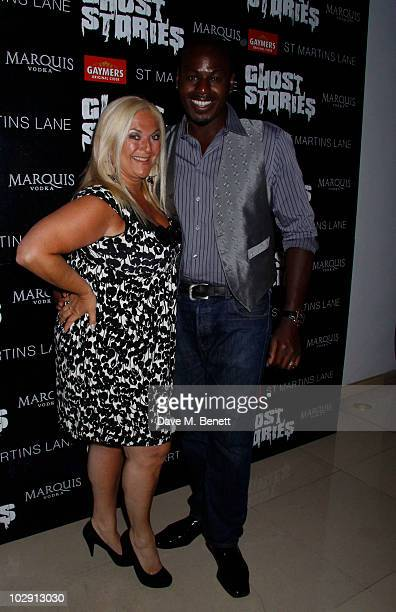Personality Vanessa Feltz and partner Ben Ofoedu attend the Ghost Stories Press Night Party held on July 14, 2010 at the St Martins Lane Hotel in...