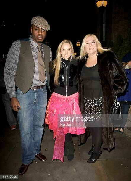 Personality Vanessa Feltz with her husband Ben Ofoedu and Daughter Allegra attend the Kathy Lette and Imogen EdwardsJones book launch party at The...