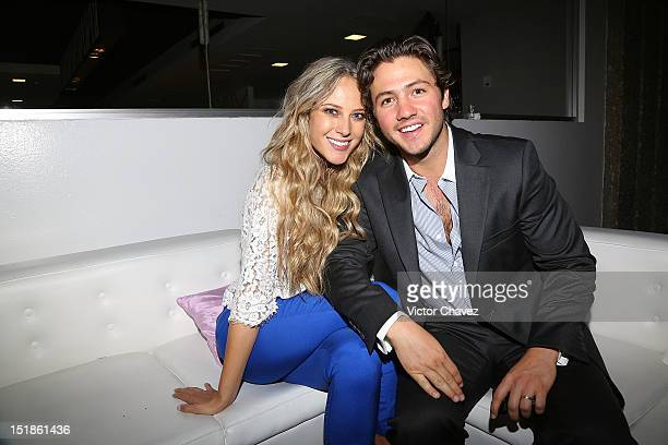 TV personality Vanessa Huppenkothen and her husband Juan Fernandez attend the Liverpool Fashion Fest Autumn/Winter 2012 after party at Liverpool...