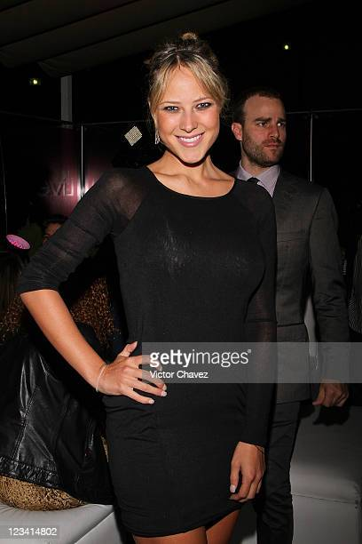 TV personality Vanessa Huppenkothen attends the Liverpool Fashion Fest Autumn/Winter 2011 after party at Liverpool Polanco on September 1 2011 in...
