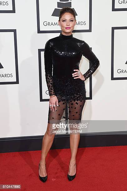 TV personality Vanessa Lachey attends The 58th GRAMMY Awards at Staples Center on February 15 2016 in Los Angeles California