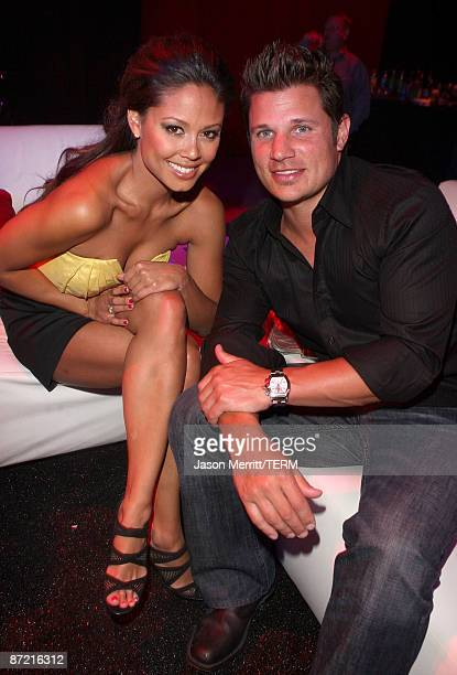 TV personality Vanessa Minnillo and singer Nick Lachey attend Maxim's 10th Annual Hot 100 Celebration Presented by Dr Pepper Cherry True Religion...