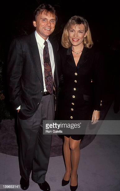 """Personality Vanna White and Game Show Host Pat Sajak attending """"National Association of Program Television Executives Convention"""" on January 27, 1993..."""