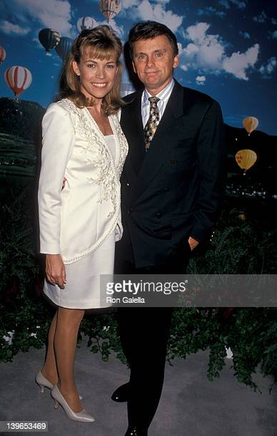 """Personality Vanna White and Game Show Host Pat Sajak attending """"National Assocation of Television Program Executives Convention"""" on January 24, 1995..."""