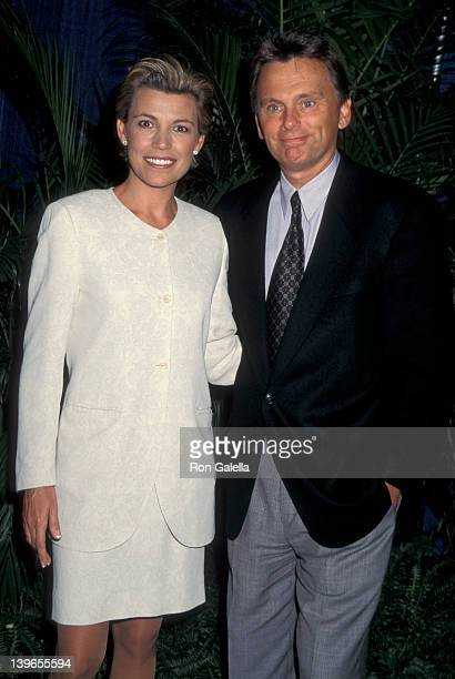 """Personality Vanna White and Game Show Host Pat Sajak attending """"National Association of Television Program Executives Convention"""" on January 22, 1996..."""