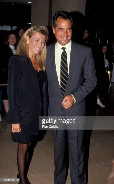 Personality Vanna White and husband George Santopietro attending 'Party for Merv Griffin' on May 1 1991 at the Beverly Hilton Hotel in Beverly Hills...