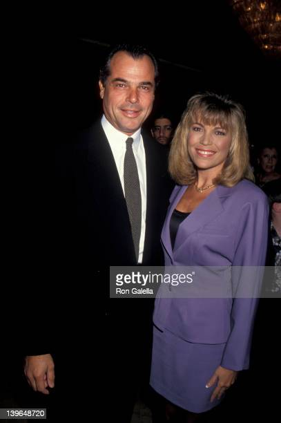 Personality Vanna White and husband George Santopietro attending Scott Newman Center Benefit Gala Honoring George Schlatter on November 1 1992 at the...