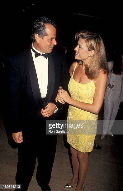 Personality Vanna White and husband George Santopietro attending the taping of 'NBC SpecialComedy Hall of Fame' on August 29 1993 at the Beverly...
