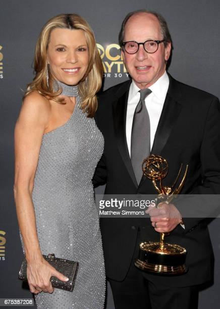 TV personality Vanna White and producer Harry Friedman attend the CBS Daytime Emmy after party at Pasadena Civic Auditorium on April 30 2017 in...