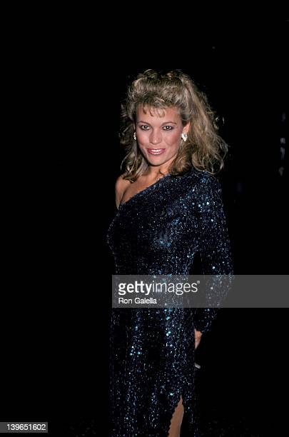 Personality Vanna White attending Second Annual American Cinematheque Awards on November 22 1985 at the Beverly Wilshire Hotel in Beverly Hills...