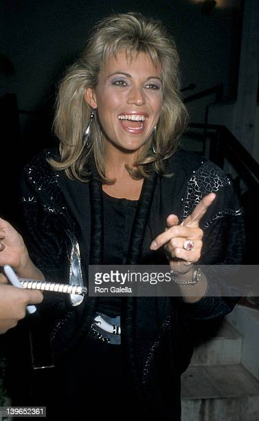 Personality Vanna White being photographed on November 7 1986 at Spago Restaurant in West Hollywood California