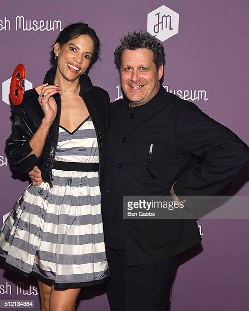 TV personality Veronica Webb Del Gatto and fashion designer Isaac Mizrahi attend the Jewish Museum's Purim Ball at the Park Avenue Armory on February...