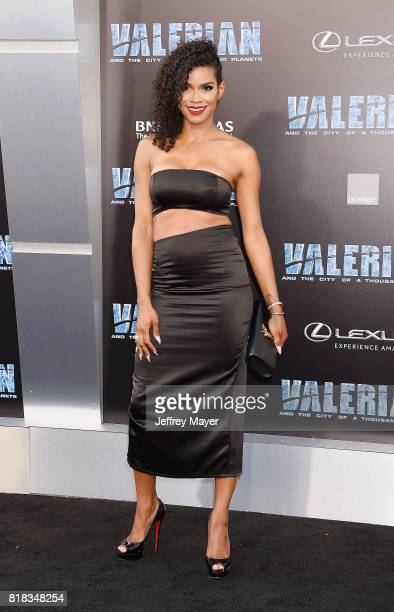 TV personality Veronika Obeng arrives at the Premiere Of EuropaCorp And STX Entertainment's 'Valerian And The City Of A Thousand Planets' at TCL...