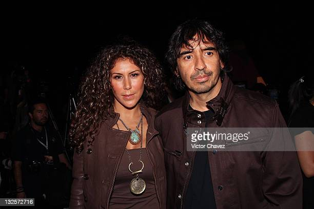 TV personality Vica Andrade and her husband TV producer Guillermo Del Bosque attends the MercedesBenz Fashion Mexico Autumn/Winter 2009 at Antara...