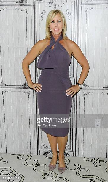 TV personality Vicki Gunvalson attends the AOL Build Speaker Series Vicki Gunvalson The Real Housewives Of Orange County Uncensored at AOL Studios In...