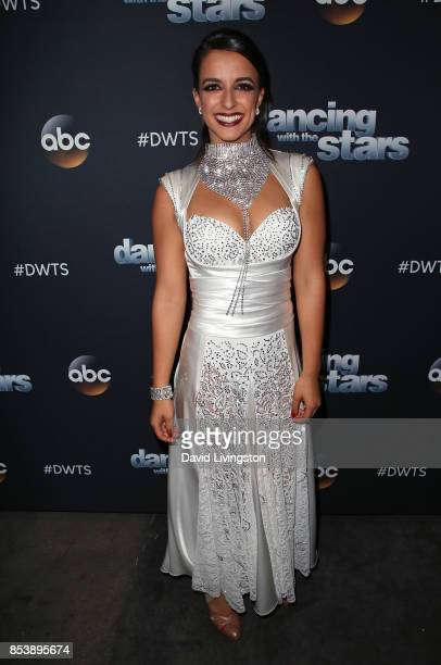 TV personality Victoria Arlen attends 'Dancing with the Stars' season 25 at CBS Televison City on September 25 2017 in Los Angeles California