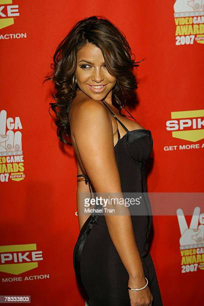 Personality Vida Guerra arrives at Spike TV's 5th Annual Video Game Awards held at Mandalay Bay Events Center on December 7 2007 in Las Vegas Nevada