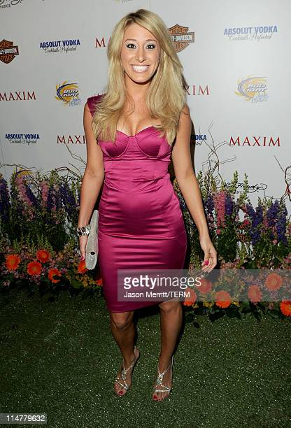 TV Personality Vienna Girardi arrives at the 11th annual Maxim Hot 100 Party with HarleyDavidson ABSOLUT VODKA Ed Hardy Fragrances and ROGAINE held...