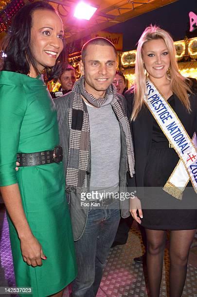 PARIS FRANCE APRIL TV personality Vincent McDoom singer Allan Theo and Miss Prestige Nationale 2012 Christelle Rocca attend 'Les Enfants De La Terre'...