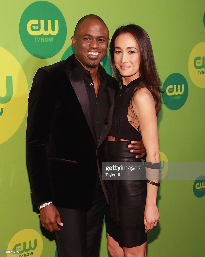 TV personality Wayne Brady (L) and actress Maggie Q attend The CW Network's New York 2013 Upfront Presentation at The London Hotel on May 16, 2013 in New York City.