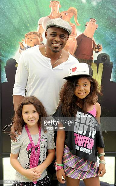 TV personality Wayne Brady and daughters arrive at the Los Angeles premiere of ParaNorman at AMC CityWalk Stadium 19 at Universal Studios Hollywood...