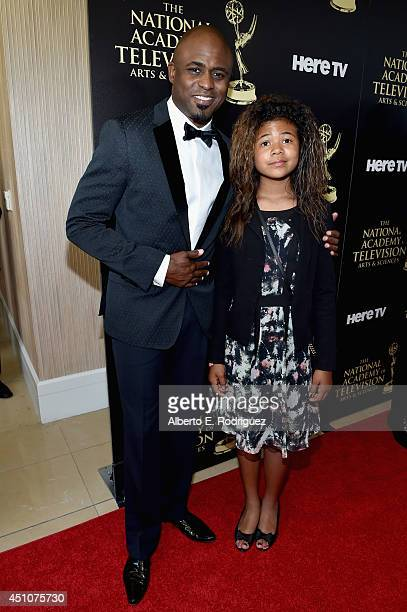 TV personality Wayne Brady and Maile Masako Brady attend The 41st Annual Daytime Emmy Awards at The Beverly Hilton Hotel on June 22 2014 in Beverly...