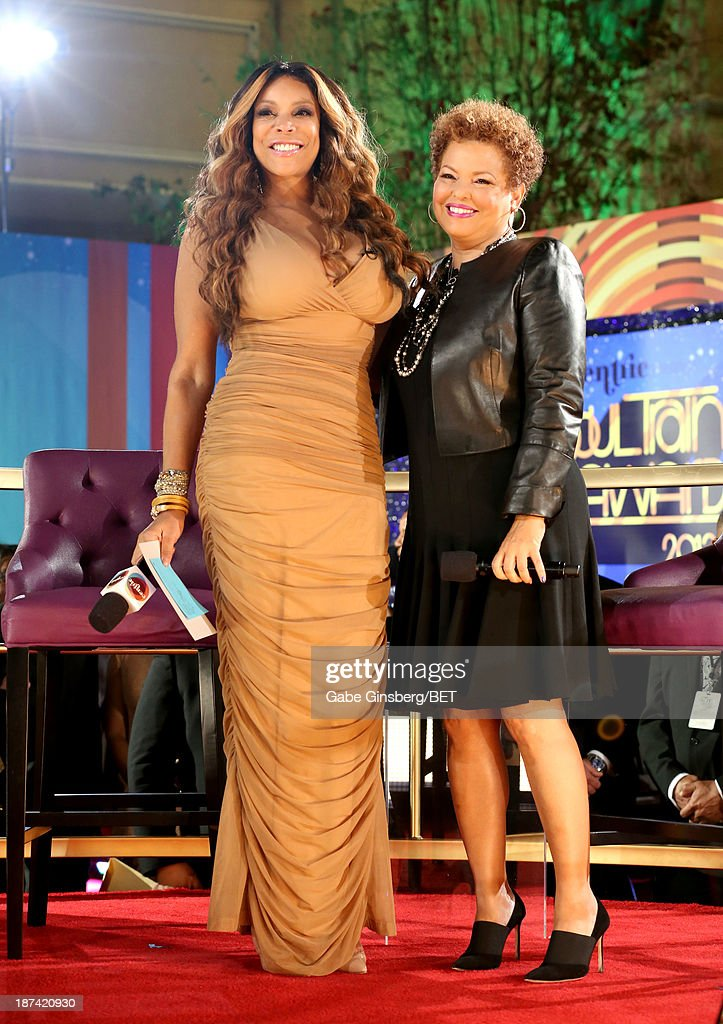 TV personality Wendy Williams (L) and Chairman and Chief Executive Officer of BET Debra L. Lee attend the Soul Train Awards 2013 at the Orleans Arena on November 8, 2013 in Las Vegas, Nevada.