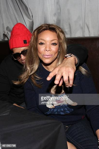 TV personality Wendy Williams and husband Kevin Hunter attend the Smif N Wessun Dah Shinin' 20 Year Anniversary concert at SOB's on January 14 2015...