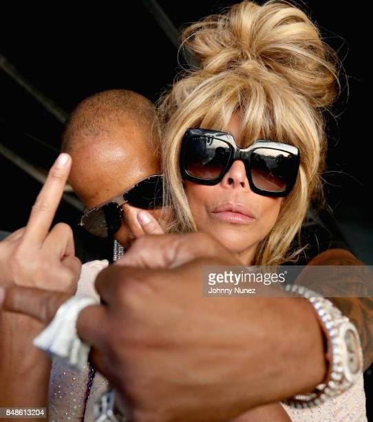 TV personality Wendy Williams and Kevin Hunter pose backstage during the Meadows Music and Arts Festival Day 3 at Citi Field on September 17 2017 in...