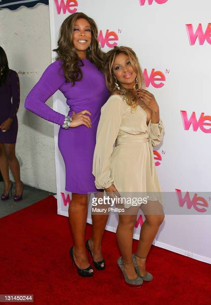 """Personality Wendy Williams and singer Toni Braxton arrive at """"Braxton Family Values"""" Reunion Special Hosted By Wendy Williams at Occidental Studios..."""