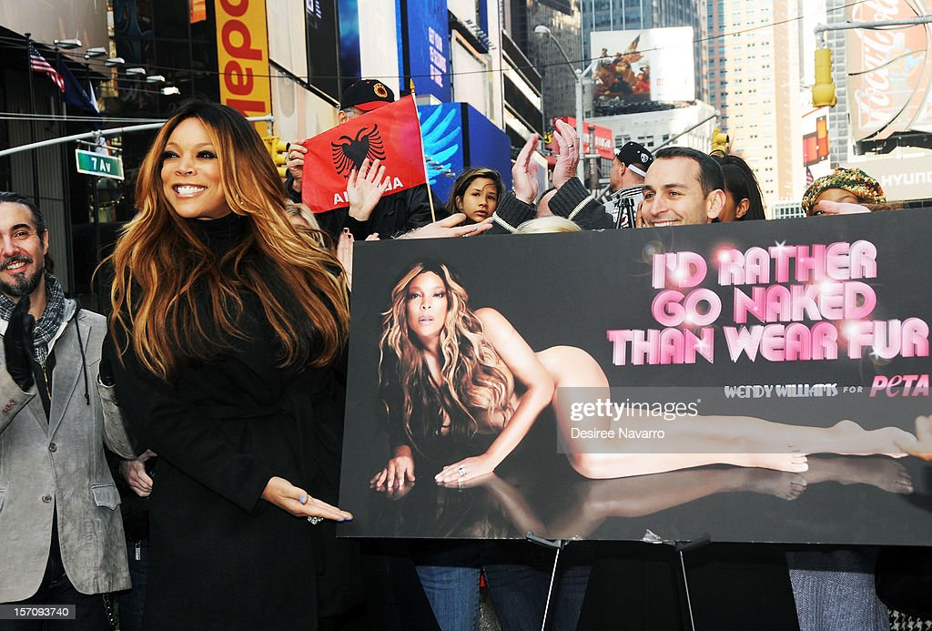 Wendy Williams nude! Talk-show host wigs out for PETA