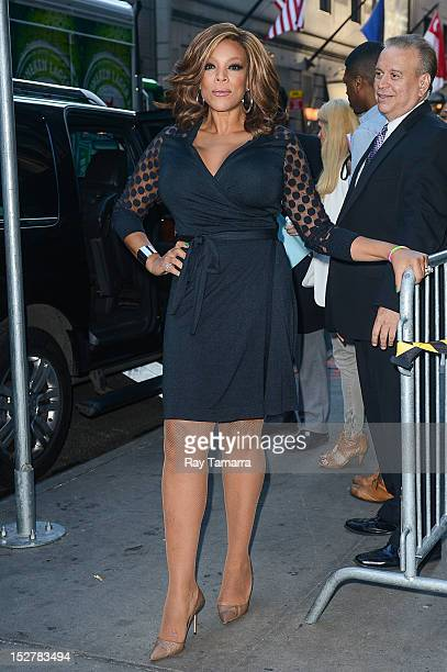 TV personality Wendy Williams leaves the Good Morning America taping at the ABC Times Square Studios on September 25 2012 in New York City