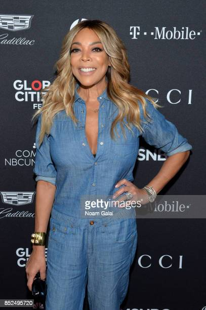 TV personality Wendy Williams poses in the VIP Lounge during the 2017 Global Citizen Festival in Central Park on September 23 2017 in New York City