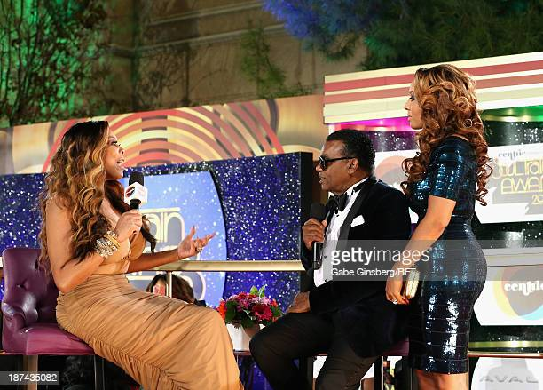 TV personality Wendy Williams producer Ronald Isley and Kandy Johnson Isley attend the Soul Train Awards 2013 at the Orleans Arena on November 8 2013...