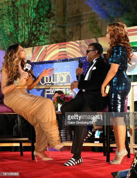 Personality Wendy Williams, producer Ronald Isley, and Kandy Johnson Isley attend the Soul Train Awards 2013 at the Orleans Arena on November 8, 2013...