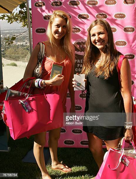 TV personality Whitney Port and Ali Sims at the 2007 Kari Feinstein Emmy Suite on August 13 2007 in Beverly Hills California