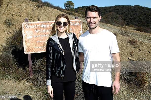 Personality Whitney Port and CoFounder of Allbirds Tim Brown Hike with Allbirds and Friends on December 3 2016 in Los Angeles California