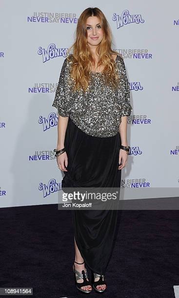 TV personality Whitney Port arrives at the Los Angeles Premiere Justin Bieber Never Say Never at Nokia Theatre LA Live on February 8 2011 in Los...