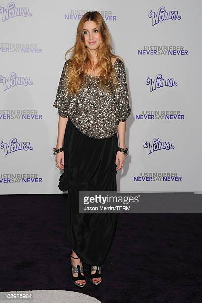 TV personality Whitney Port arrives at the premiere of Paramount Pictures' Justin Bieber Never Say Never held at Nokia Theater LA Live on February 8...